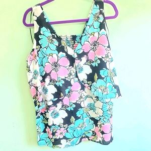 NWT NY COLLECTION Floral blouse size 1X